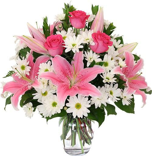 Цветов роза, подарочный букет из лилии роз и хризантем