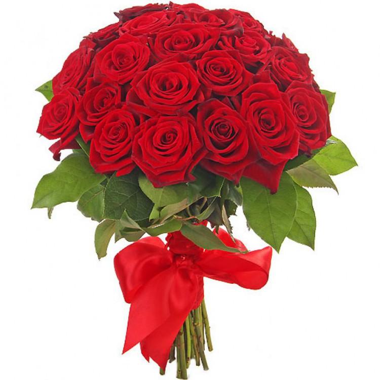 Цветы, красные розы красный букет
